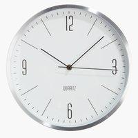 Relógio parede HALVOR Ø30cm prateado