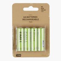 Pile EIMILL rechargeable AA 4pcs/pqt