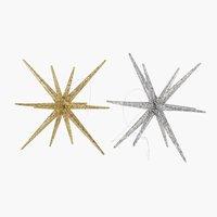 Estrela ASLAUG Ø12xA8cm sort.