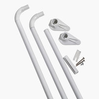 Shower curtain rail VARA 90x90x90 white
