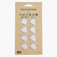 Batterie WILMER CR2032 8 pezzi