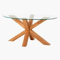 Coffee table AGERBY 60x100 glass/oak