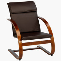 Armchair TUNE dark brown/brown