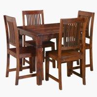 Miza FREDERICIA + 4 stoli FREDERICIA