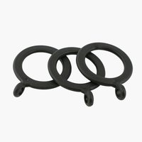 Curtain rings COUNTY 10 pack black