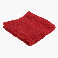 Face cloth KARLSTAD red KRONBORG