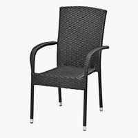 Stapelstol BIRKEMOSE stål/petan svart