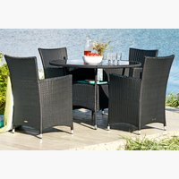 Table RJUKAN D95cm+4 chairs KOSTA