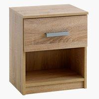 Noční stolek TAPDRUP 1 zásuvka dub
