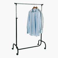 Clothes rail JERSLEV black/chrome