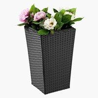 Květináč BLOMMOR 31×31×50 ratan černá