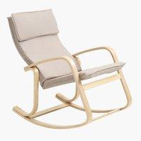 Κουνιστή καρέκλα EJER λυγισ.ξύλο μπεζ