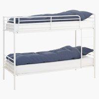 Łóżko piętrowe PLOVSTRUP 2x90x200 biały