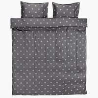 Duvet cover ANE Sateen DBL grey