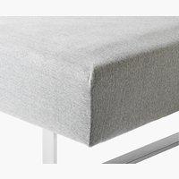 Jerseylaken 90x200x45 grå