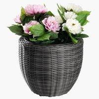 Flower pot SVARTBAK Ø42x36 petan grey
