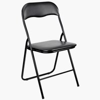 Folding chair VIG black plastic