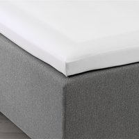 Kuvertlakan satin 120x200x6-10 vit