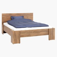 Bed frame VEDDE DBL oak