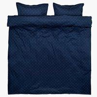 Set posteljine STELLA saten 200x220 plav