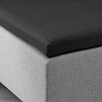 Kuvertlakan 90x200x6-10cm svart