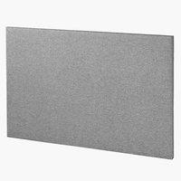 Sengegavl BASIC H5 150 plain grå