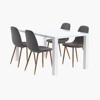 Miza OMME d160 + 4 stoli JONSTRUP