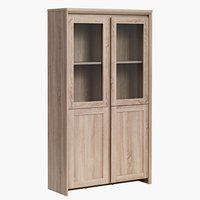 Display cabinet HALLUND 2 door oak