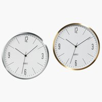 Wall clock HALVOR D30x4cm ass.