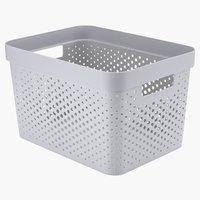 Cesta INFINITY 17L plástico gris