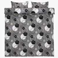 Påslakanset FREYDIS 200x220 grå/svart