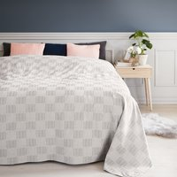 Bed throw STORRAPP 220x220 grey