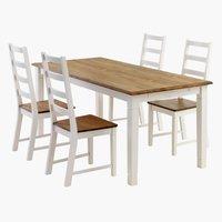 Miza RYSLINGE d180/270+4 stoli RYSLINGE