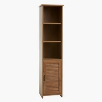 Bookcase MANDERUP 1 door 3+1 sh.wild oak