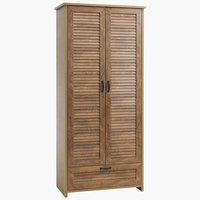 Wardrobe MANDERUP 2 doors 1 drawer oak
