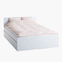 Bed frame LIMFJORDEN King white