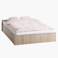 Ram kreveta GENTOFTE 160x200cm hrast
