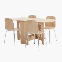 Miza OBLING d163 + 4 stoli HALDRUP
