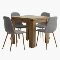 Miza VEDDE 80/160 + 4 stoli JONSTRUP