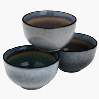 Bowl LAUKE D12xH6cm stoneware assorted