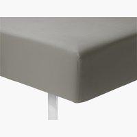Plahta s gum.tr. mikro 90x200x25 cm siva