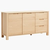 Sideboard SEJS 2 doors 3 drawers oak