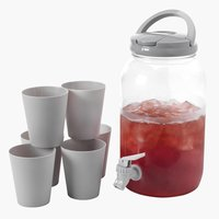 Container w/tap FJAND 3.8 ltr 6 cups gr.