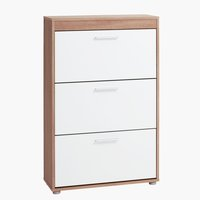 Shoe cabinet SLAGELSE 3 comp. oak/white