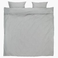 Duvet cover SUS Yarn dyed KNG white/grey