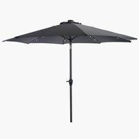 Market parasol ASKIM D300 LED grey