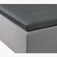Kuvertlakan satin 90x200x6-10cm grå