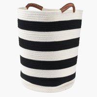 Basket SVANTE D37xH45cm black/white