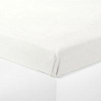 Чаршаф бархет 100x140 см бял
