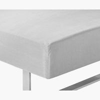 Fitted sheet SGL l.grey KRONBORG